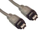 IEC M2434 IEEE 1394 4 Pin to 4 Pin FireWire Cable 6'