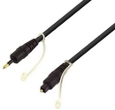 IEC M8464-12 Toslink to 3.5mm Optical Plug on 5.0mm Digital Audio Fiber Cable 12 Feet