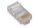 IEC MP08MC5E RJ45 8 Position Modular Plug for Solid or Stranded Wire Rated for Category 5e