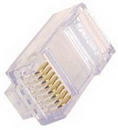 IEC MP08MC6 RJ45 8 Position Modular Plug for Solid or Stranded Wire Rated for Category 6