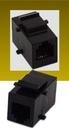 IEC RJ1106F-F-MT-BK RJ11 6 Position Keystone Connector Female to Female Black