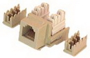 IEC RJ1106F-MT110 RJ11 6 Position Keystone Connector Female Ivory with 110 Termination