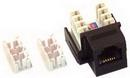 IEC RJ1106F-MTBK110 RJ11 6 Position Keystone Connector Female Black with 110 Termination