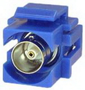IEC RMBNC-BU BNC 75 Ohm Female to Female Flush Mount Keystone Connector Plate Insert Blue