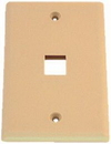 IEC WZ10801 Ivory Plastic Wall Plate with 1 Cutout for a Keystone Insert