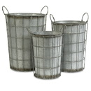 IMAX 74217-3 Chandler Metal Flower Vases - Set of 3