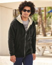 Independent Trading EXP40SHZ Mens Sherpa Lined Zip Hooded Sweatshirt