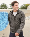 Independent Trading EXP80PTZ Mens Poly-Tech Zip Hooded Sweatshirt