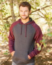 Independent Trading IND40RP Mens Raglan Pullover Hooded Sweatshirt