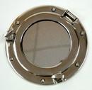 India Overseas Trading AL48591M Aluminum Mirror &Amp; Chrome Porthole, 9&Quot;