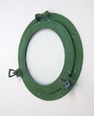 India Overseas Trading AL4860G - Porthole Glass Aluminum - Green, 11""