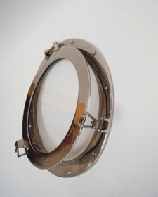 India Overseas Trading AL48610C Porthole Mirror Aluminum Chrome