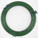 India Overseas Trading AL486110A Porthole Glass Aluminum w/ Green Finish