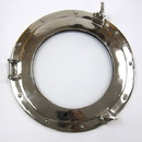 India Overseas Trading AL48611S Porthole, Glass w/ Chrome Finish, 15