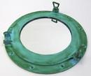 """India Overseas Trading AL4861A - Porthole Mirror Aluminum Green, 15"""""""