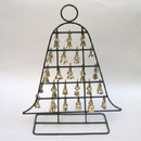 India Overseas Trading BR1885 - Iron Bell Stand with Brass Bells