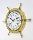 India Overseas Trading BR48270 - Brass Ship Wheel Clock (7082), 11""