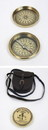 India Overseas Trading BR48391 - Solid Brass Boy Scout Compass w/ Faux Leather Pouch