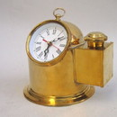 India Overseas Trading BR48451 - Brass Binnacle Clock - Doesn't include oil lamp