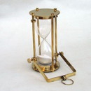 India Overseas Trading BR4863B - Brass, Glass, Sand Timer Hourglass