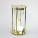 India Overseas Trading BR4863 - Brass Hourglass Sand Timer, 5 minute.