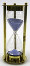 "India Overseas Trading BR4864CB Brass ""MARY ROSE"" 3-min. Hourglass w/ Blue Sand"