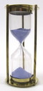 India Overseas Trading BR4864EB Brass 5-minute Hourglass w/ Blue Sand