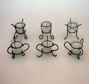India Overseas Trading MR22791 - Votive Candle Holder Cracked Glass Set of 6