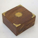 India Overseas Trading SH68981 - Wooden Inlaid Box Sun Design