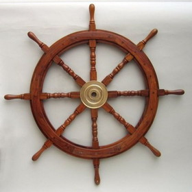 India Overseas Trading SH8764 Wooden Ship Wheel