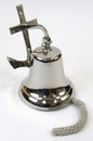 India Overseas Trading SP1880 Solid Brass Anchor Bracket Bell Chrome Finished