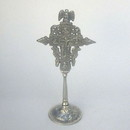 India Overseas Trading SP5051 - Brass, Silver Vines Cross