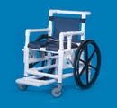 IPU Shower Access Chair W/Dlx Open Front Soft Seat W/Tall Pail