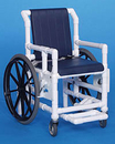 IPU Shower Access Chair W/Dlx Solid Soft Seat And Dlx Back