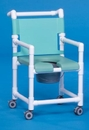 IPU Dlx Shower Chair/Commode W/Open Front Seat