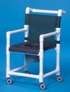 IPU Dlx Shower Chair/Commode W/Closed Seat