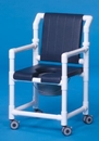 IPU Dlx Shower Chair Commode W/Open Front Seat & Dlx Back
