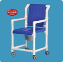 IPU Dlx Shower Chair Commode W/Closed Seat & Dlx Back