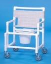 IPU Shower Chair Commode W/Round Seat            400# Capacity