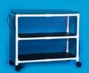 IPU Standard Line Jumbo Linen Cart - Two Shelves