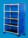 IPU Standard Line Jumbo Linen Cart - Four Shelves