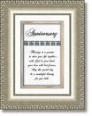 Heartfelt 41544 Anniversary Framed Tabletop Christian Verse