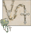 Milagros ND323 Pearl Rosary