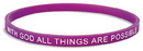 Autom PC504 With God, All Things Are Possible Faith Bracelet