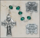 Creed Jewelry SO68EM7644KNK Emerald Our Lady of Knock Irish Rosary