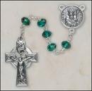 Creed Jewelry SO68EM7644SP Emerald St Patrick Rosary