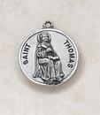 Christian Brands SS727-51 Sterling Patron Saint Thomas Medal