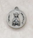 Creed SS729-45 Sterling Patron Saint Priscilla Medal