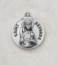 Creed SS729-6 Sterling Patron Saint Barbara Medal