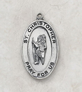 Creed SS927-11 Sterling St. Christopher Patron Saint Medal